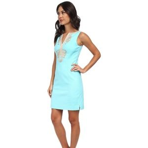 Lilly Pulitzer Janice Shift Dress Shorely Blue 8